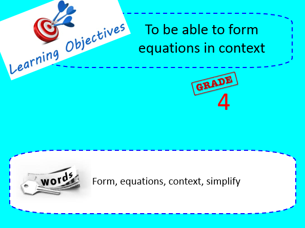 Forming equations in context