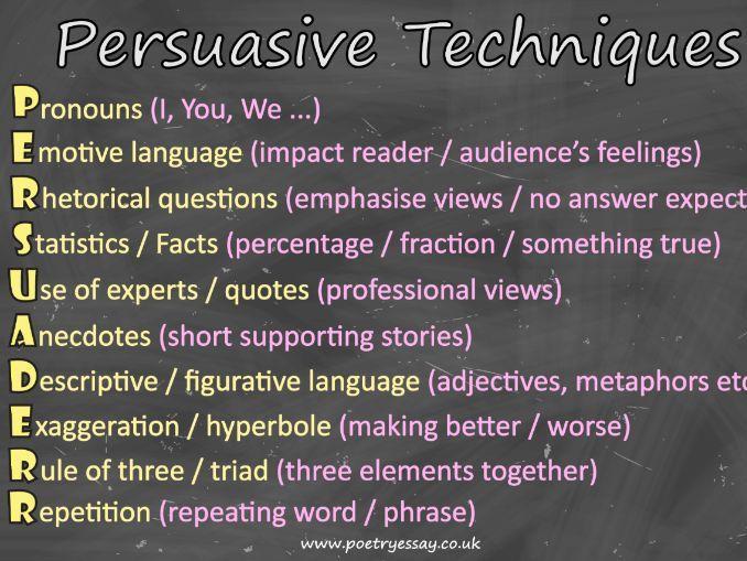 Persuasive Techniques Poster