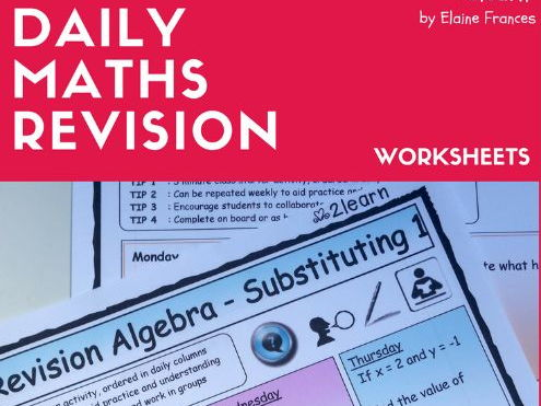 Maths Daily Revision Worksheets - Algebra 1 FULL SET * Add * Subtract * Multiply * Divide * etc