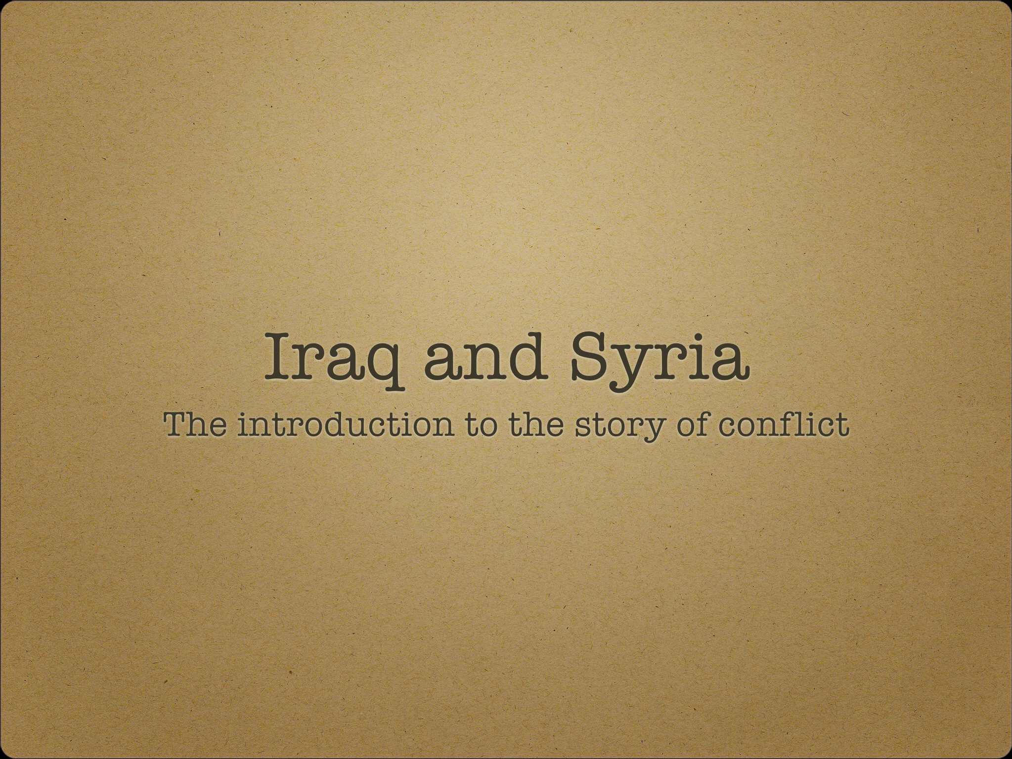 Conflicts in Middle East Iraq and Syria