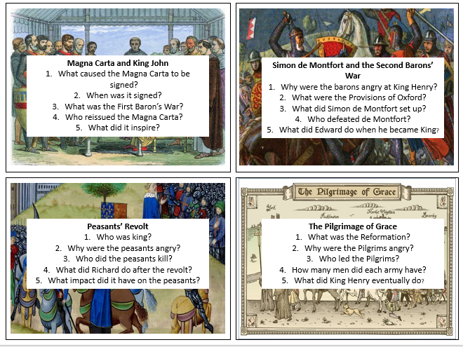 Power and the People revision cards AQA GCSE History