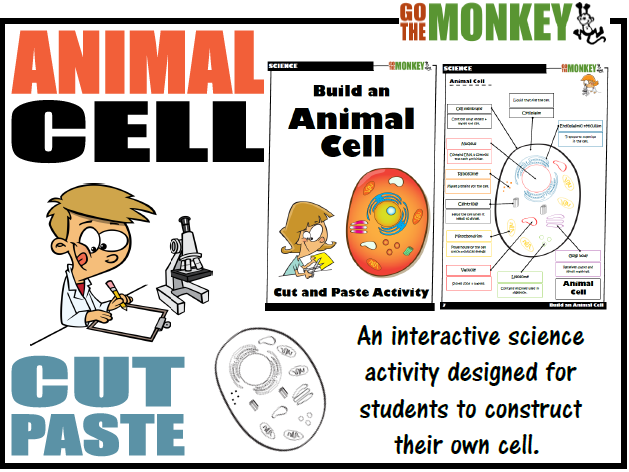 Animal Cell Cut and Paste Activity