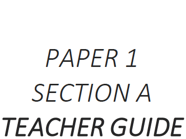 AQA 8700 GCSE English Paper 1 Section A Unit SAMPLE Teacher and Student Guide