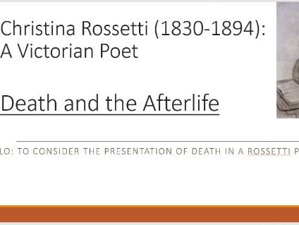 Rossetti: Death and the Afterlife Poems
