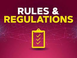 Rules & regulations - Non-participant sheet