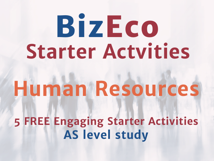 5 FREE AS Business Studies Starters - Human Resources