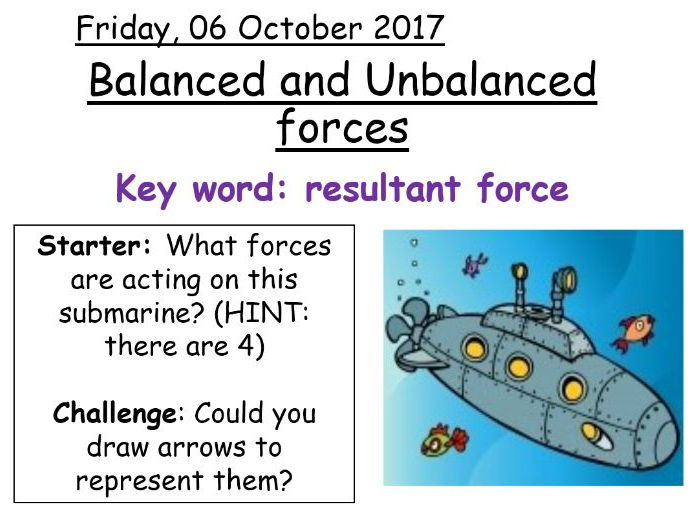 Balanced and Unbalanced Forces by ak00190 - Teaching Resources - Tes