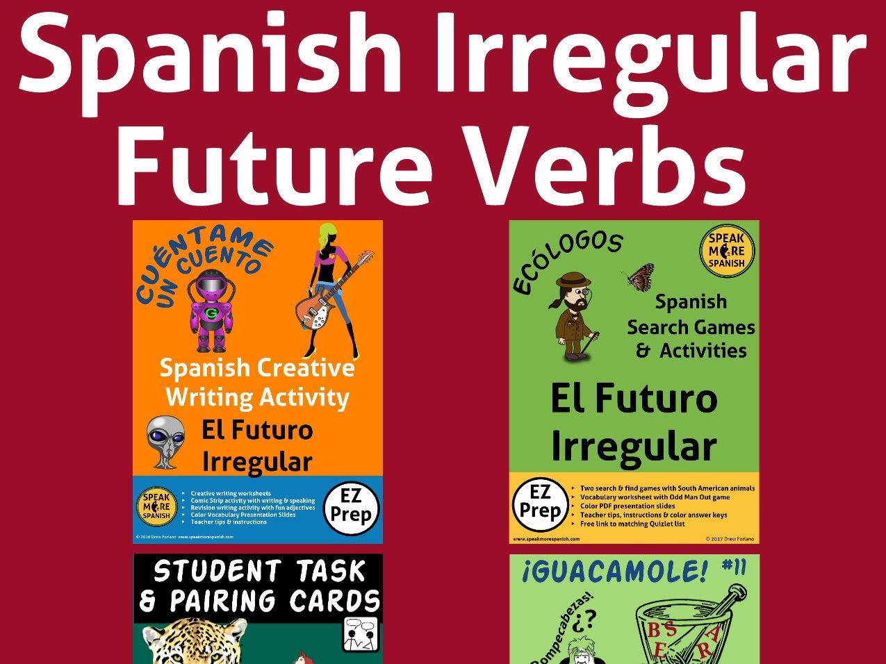Spanish Irregular Future Verbs Bundle. Verbos Irregulares del futuro en Español