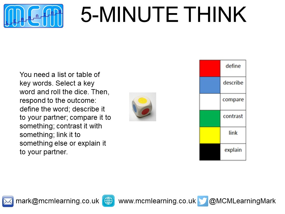 5-minute thinking tasks