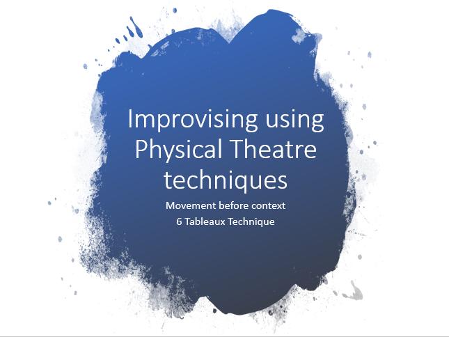 Physical Theatre Devising Technique for KS3 KS4 KS5 Drama