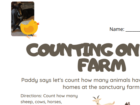 Counting Practice on the Farm