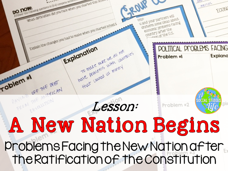 George Washington and John Adams Unit: Problems Facing the New Nation