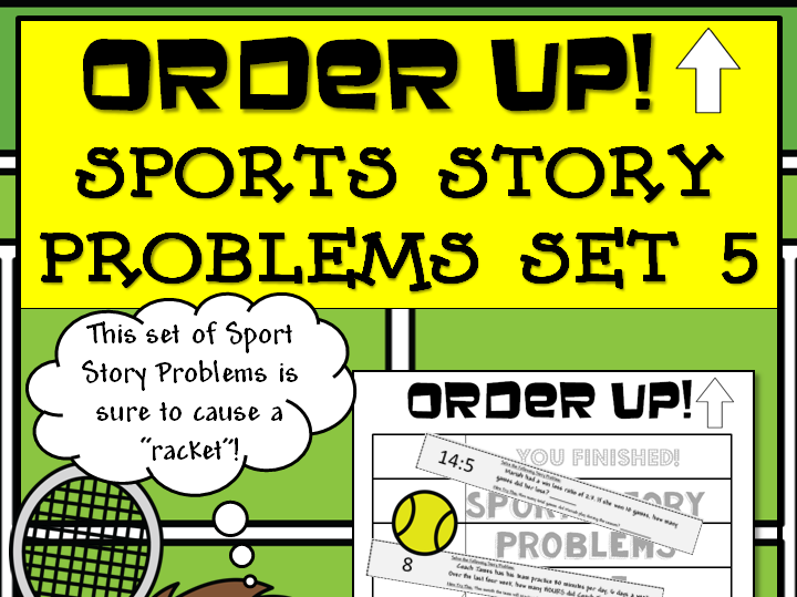Story Problems - Sports Order Up! Set 5 (Tennis)