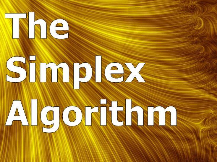 Simplex Algorithm and Variants PowerPoints Bundle