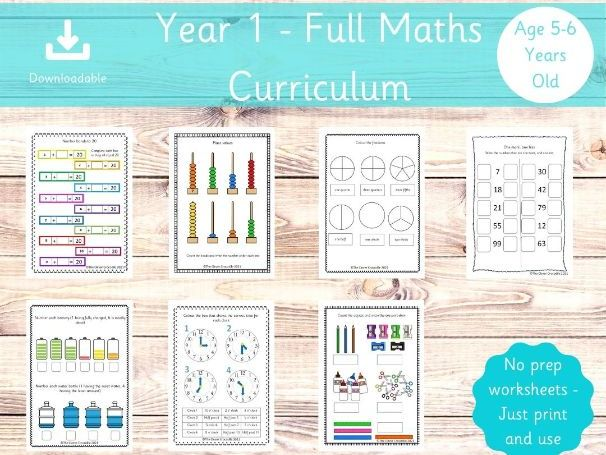 Full Maths Curriculum - Year 1