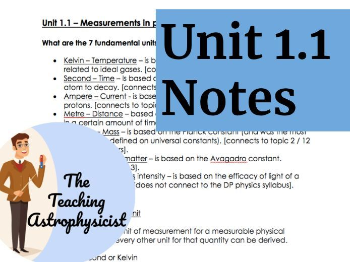 IB DP Physics Topic 1.1 Measurement in Physics - Detailed summary notes