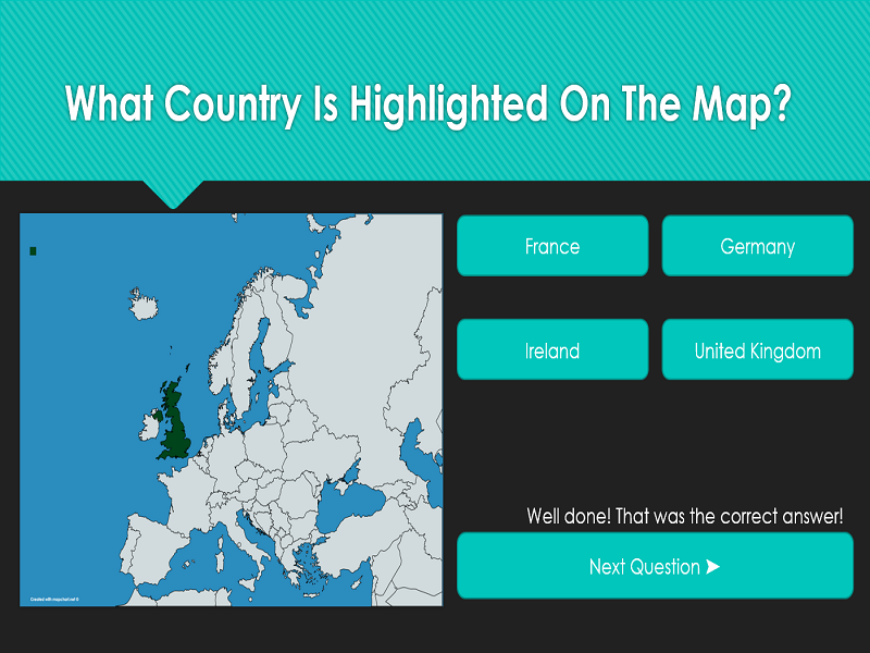 Europe Country Map Quiz