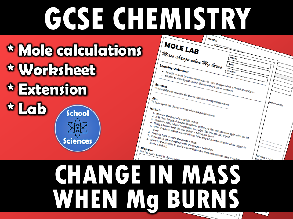 Mole lab - the change in mass when magnesium burns