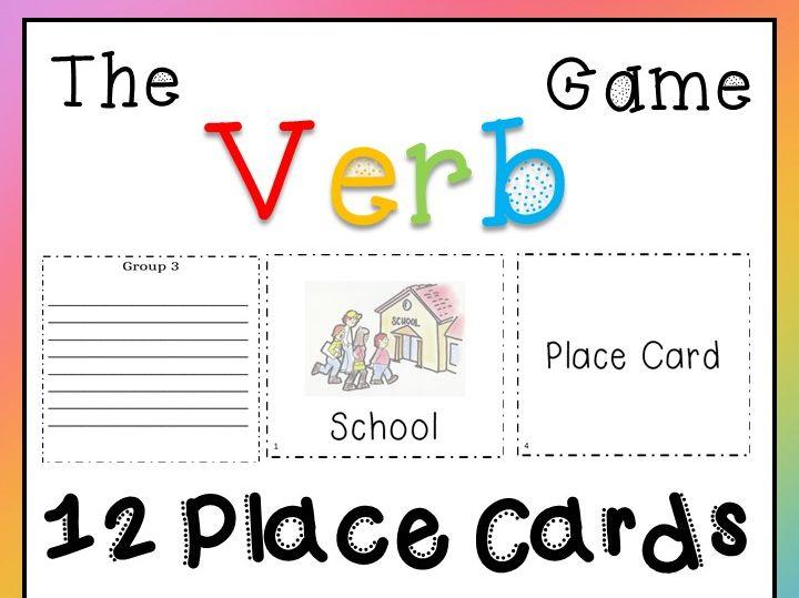 The Verb Game - Interactive, Fun, Printable - Little Prep Needed!!