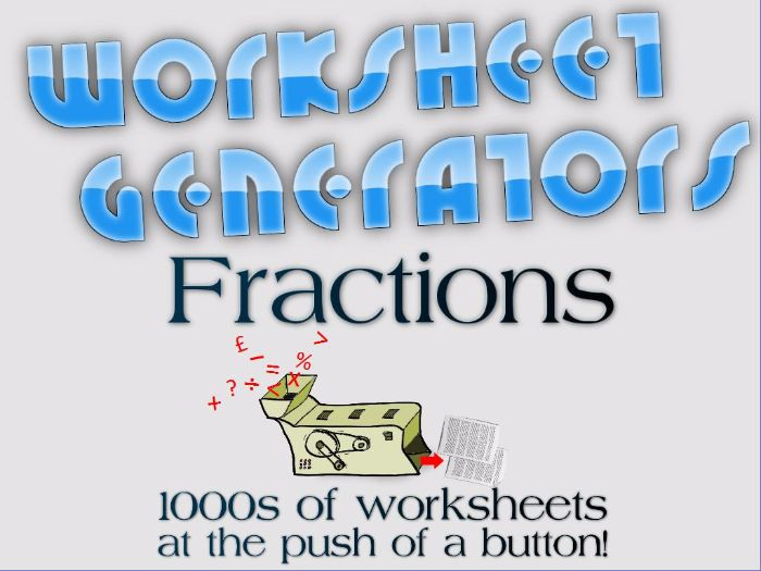 Year 4 Adding and Subtracting Fractions 4 Lesson Unit of Work – Fraction Worksheet Generator