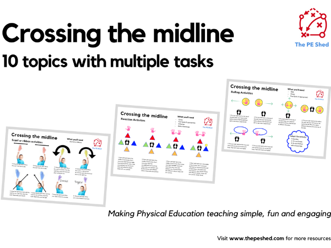 Crossing the midline - PE Task Cards