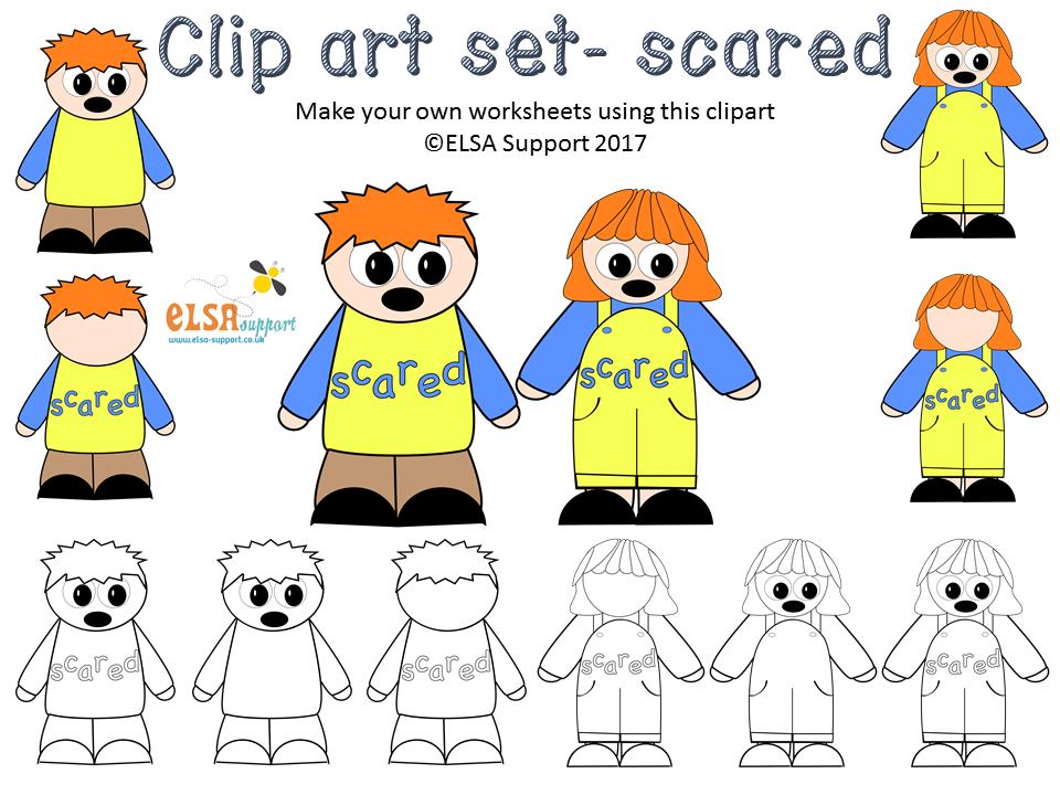 Emotion clip art - Scared