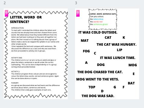 Letter, word or sentence?