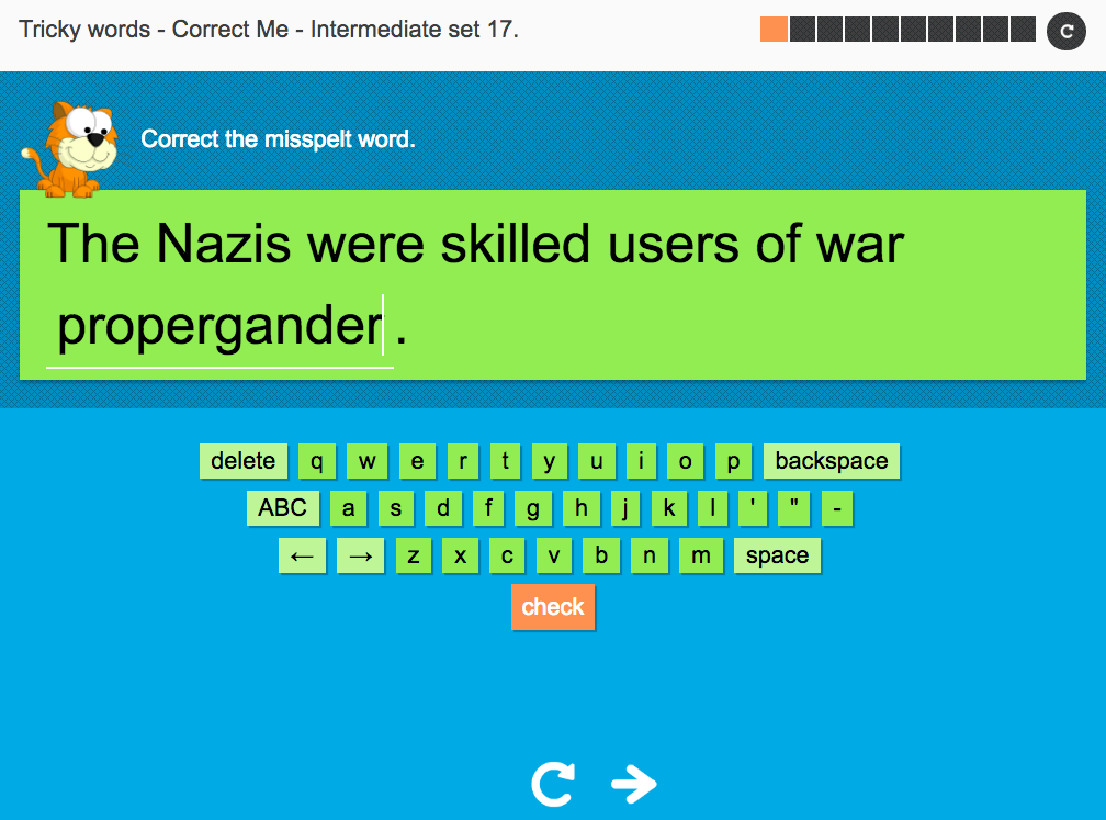 Tricky Words Spelling Interactive Exercise 17 - Intermediate Level - Year 6