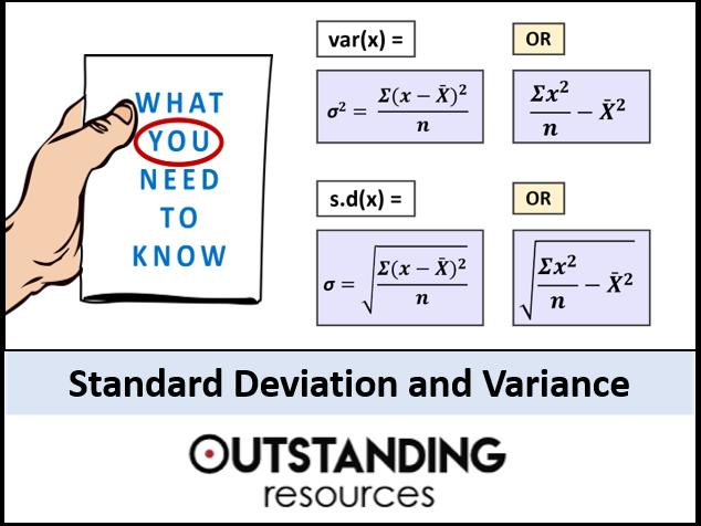 Standard Deviation and Variance (+ 2 Worksheets)
