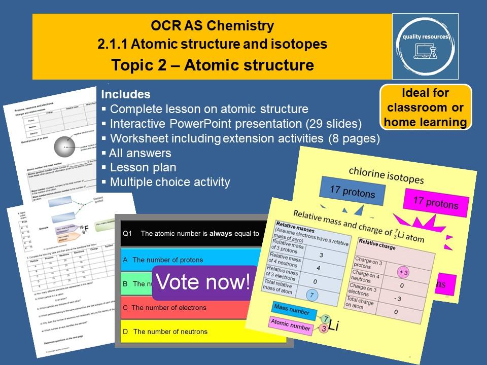Atomic Structure OCR AS Chemistry