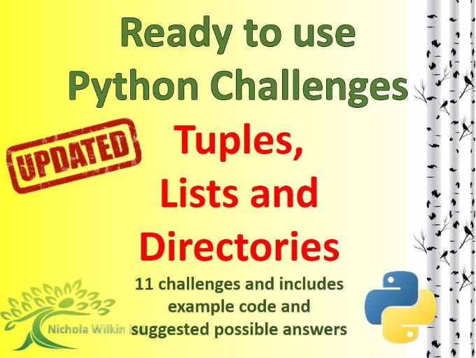 Python Tuples, Lists and Directories