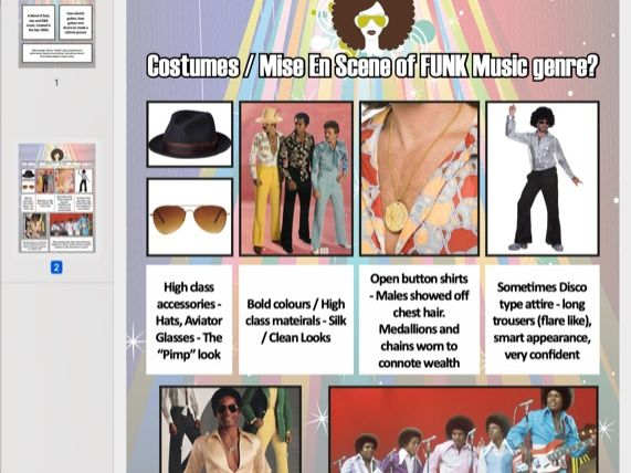 Funk Music Genre Carousel Activity Poster [x2 Page] PDF A3 (Scalable)