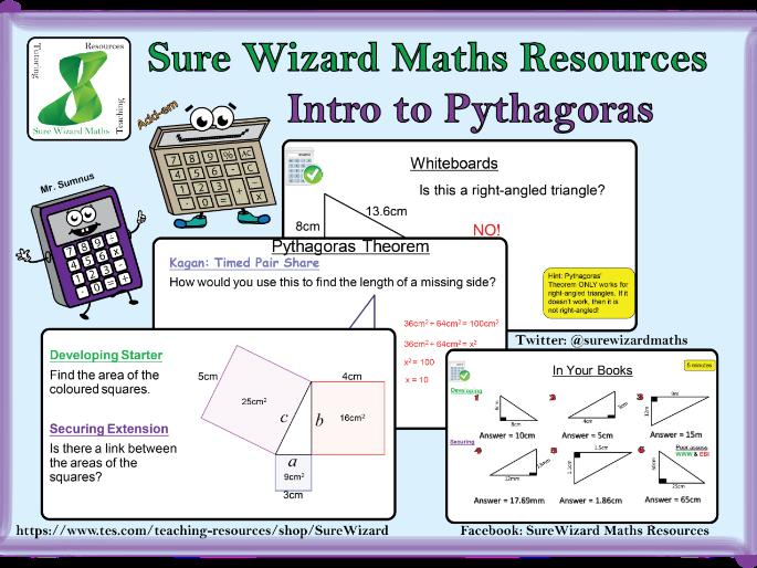 Introduction to Pythagoras' Theorem