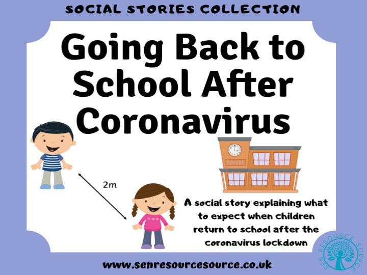 Going Back to School After Coronavirus Social Story