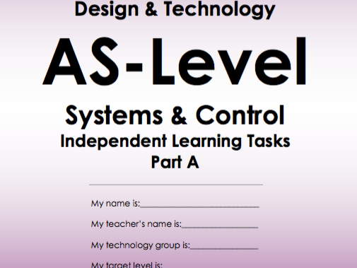 AS / A-Level Systems and Control Revision Workbook
