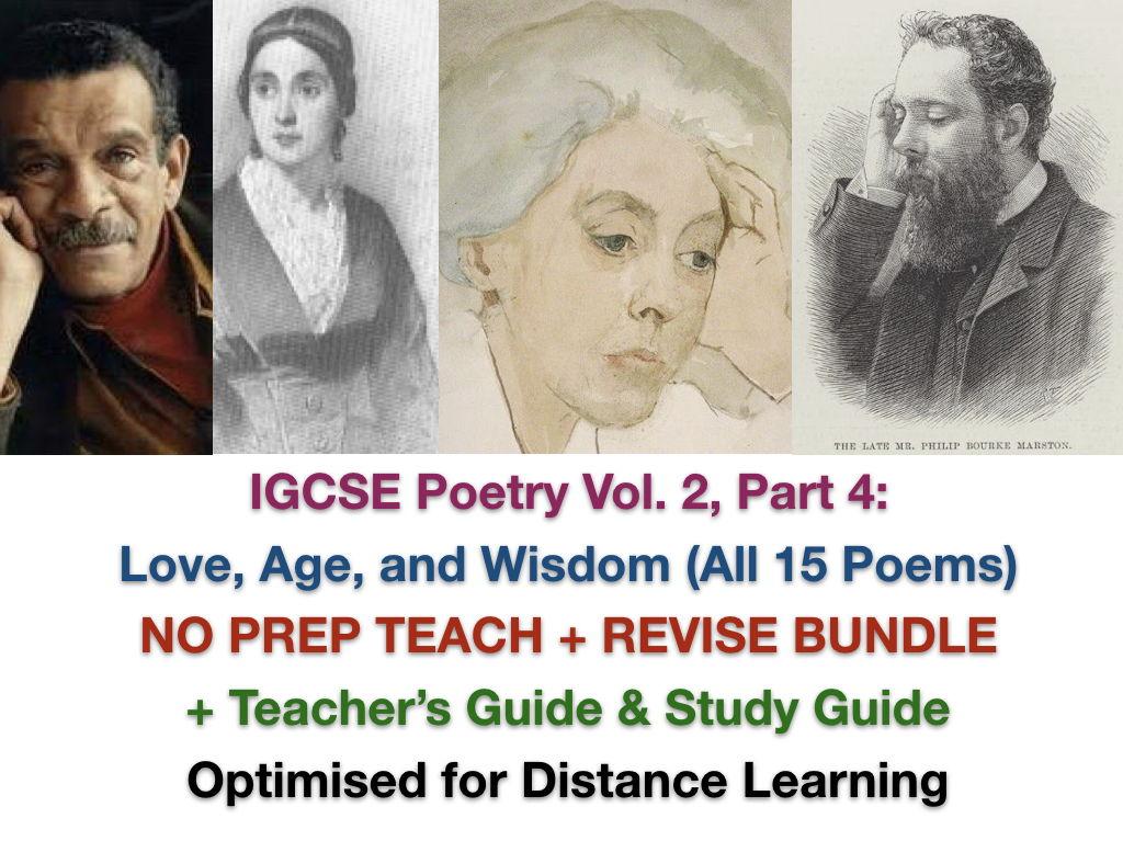 IGCSE Poetry 2022-2024: Vol. 2 Part 4 TEACH + EXAM PREP + ANSWERS Bundle