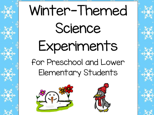Winter-Themed Science Experiment for Early Years and Primary Students