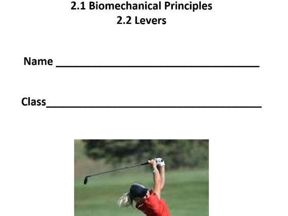 AQA A Level PE - Biomechanics & Levers - Pupil Workbook