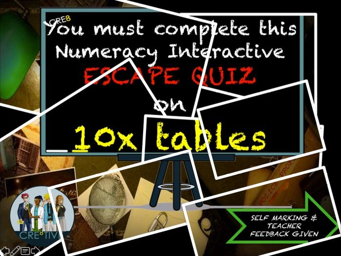 Multiplication Maths End of Term Quiz 10