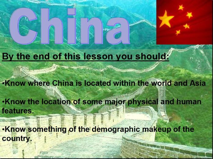 China Lesson 1 - Location