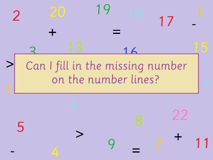 KS1 Maths Missing Number Lines