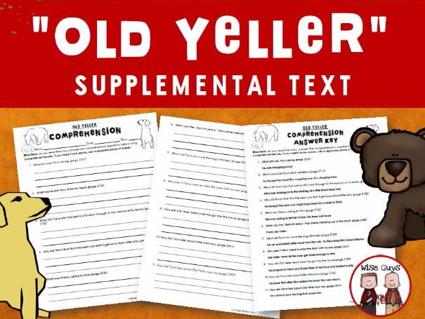 Old Yeller Reading Comprehension Questions