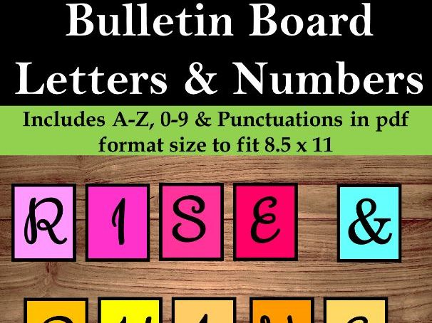 Bulletin Board Letters and Numbers | Back to School | Easy Cut - No PREP