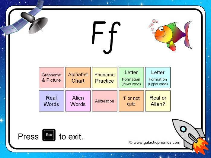 The letter 'f' PowerPoint (Phase 2)