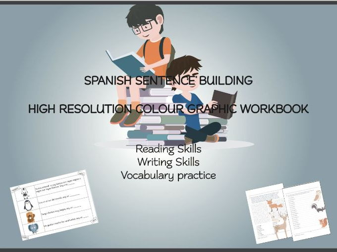 Spanish Sentence Building Colour Workbook K3-K6