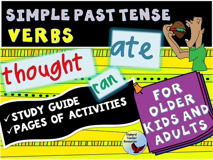 English Simple Past Tense Verbs Study Guide and Vocabulary Retention Activities