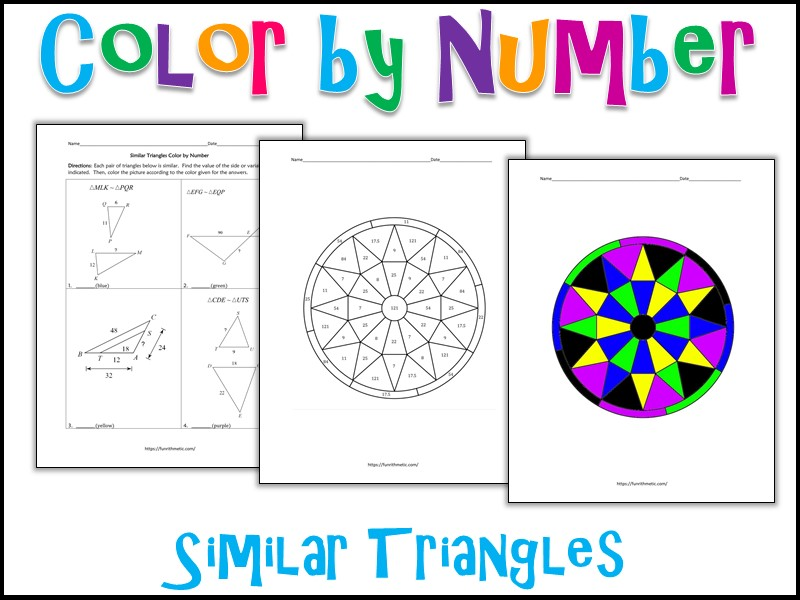 Similar Triangles Color by Number