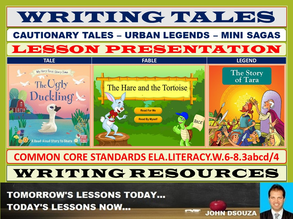CAUTIONARY TALES URBAN LEGENDS MINI SAGAS LESSON PRESENTATION