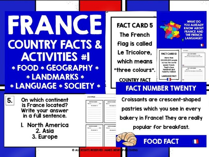 FRANCE FACTS & ACTIVITIES #1