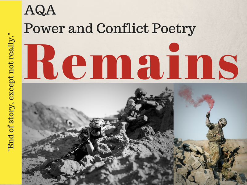 Remains - Power and Conflict Poetry - War Poems Lessons 10 & 11